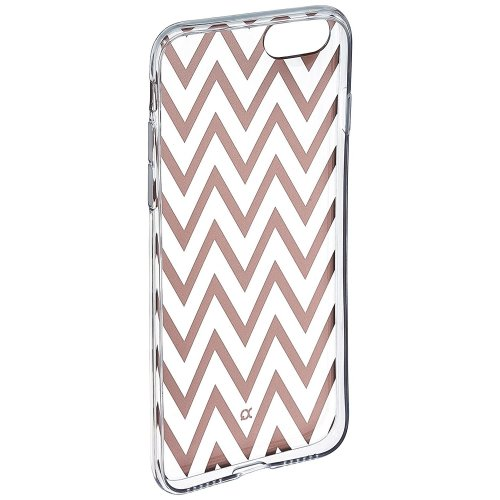 Xqisit Shell Zigzag Case for Apple iPhone 7 - Clear/Rose Gold