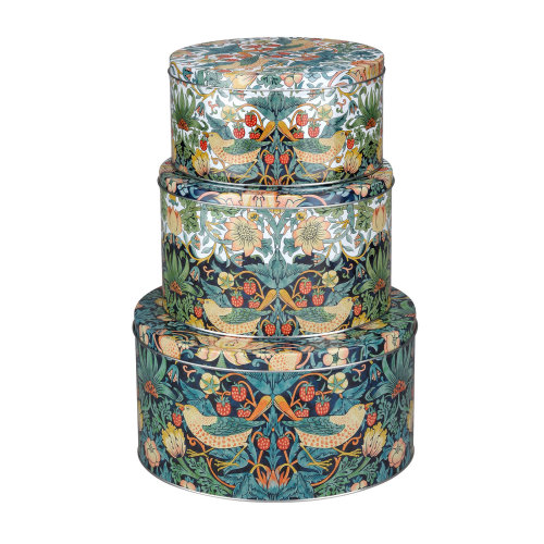 Pimpernel Strawberry Thief Set of 3 Round Nesting Tins