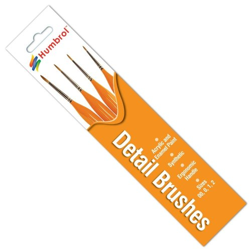 Humbrol No.00/0/1/2 Triangle Handle Detail Brush Pack