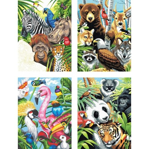 Dpw91451 - Paintsworks Pencil by Numbers - Animal Collage Pack