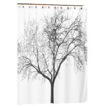 Black Tree Environmental Waterproof Shading Shower Curtains Door Curtains