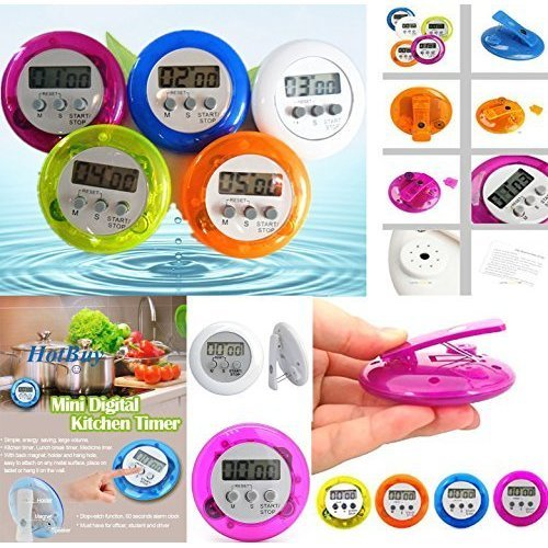 Eddingtons Plastic Digital Kitchen Timer, Purple - Timer Magnetic 99 Minute -  digital kitchen timer purple eddingtons magnetic 99 minute countdown