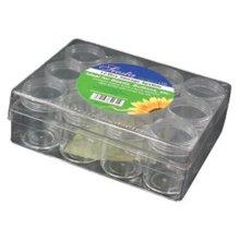 Siesta Bead Storage Organiser with 12 Extra Deep Screw Top Pots