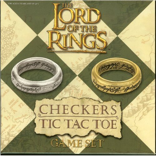 Lord of the Rings Checkers & Tic Tac Toe Game Set