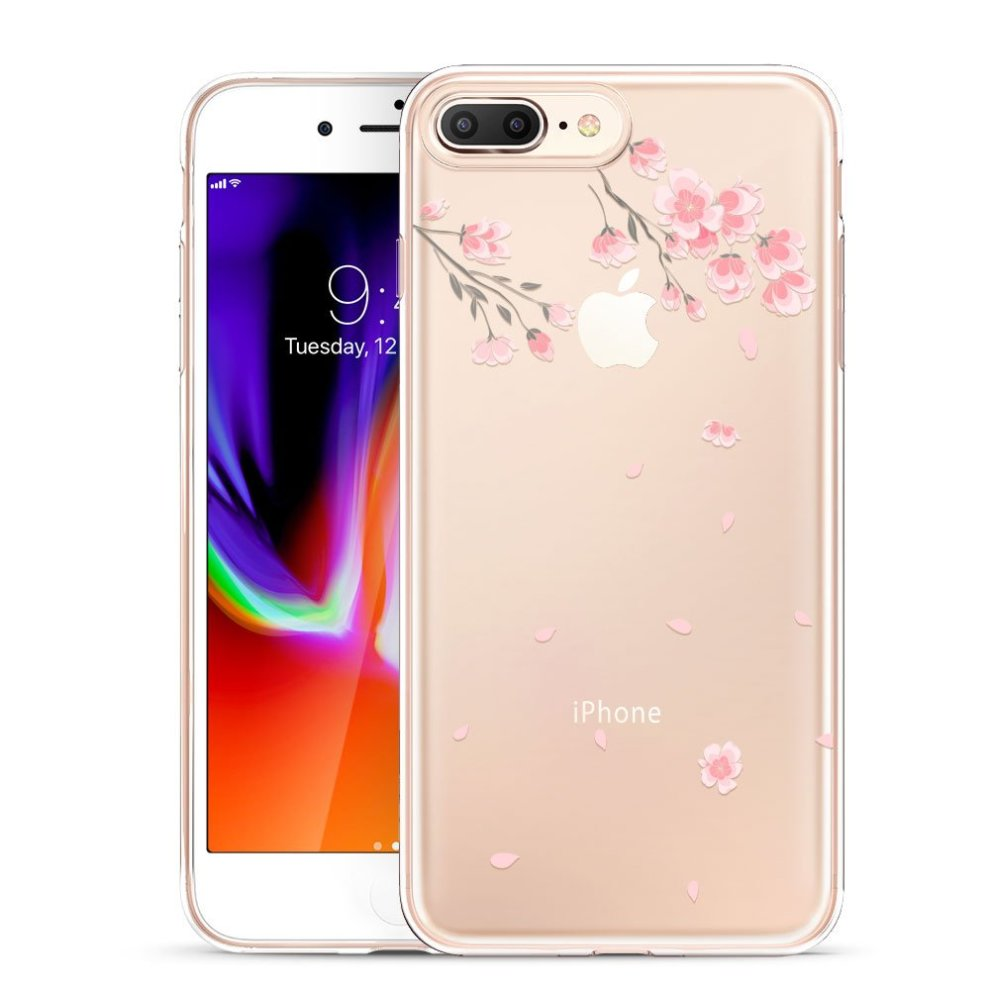 ESR iPhone 8 Plus Case, iPhone 7 Plus Case, Clear Soft Silicone Case with  Cute Pattern Design [Slim Fit] Protective Skin Cover for iPhone 7 Plus