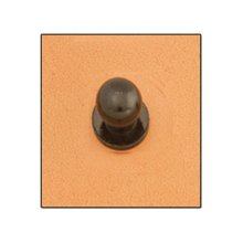 Extra Small Black Screwback Button Stud -  extra small black screwback button stud 7mm leathercraft design accent tandy