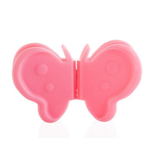 Set of 4 Cute Creative Butterfly Plate Tray Clamps Pot Holder Anti-scald,PINK