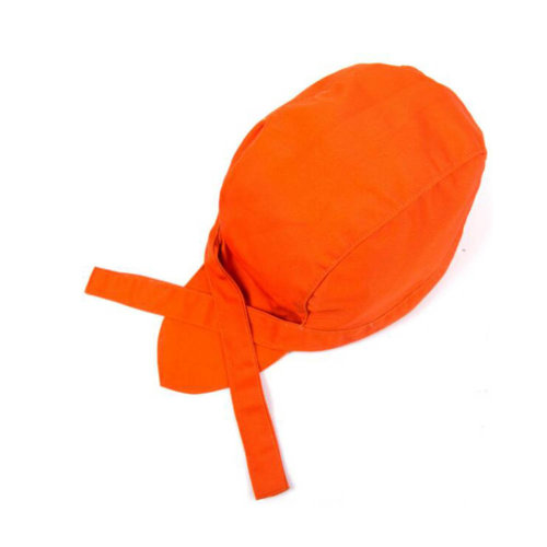 Chefs Hat Chef Cap Kitchen Catering Ribbon Cap Turban 2 Sets, Orange