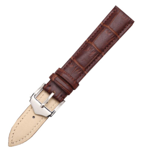 Fashion Watchbands Leather Watch Strap Waterproof Watch Chain  20 MM  Brown