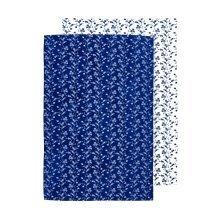 Blue Rose Tea Towels, Set Of 2