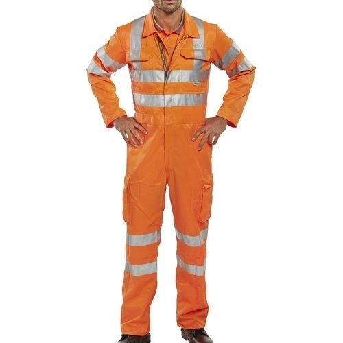 "Click RSC36 Rail Spec Hi Vis Orange Coverall Teflon Coated 36"""