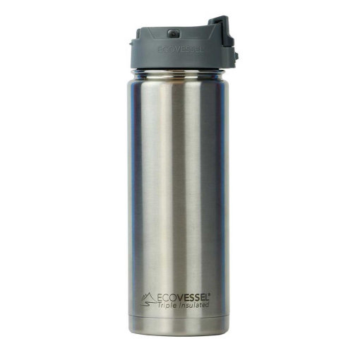 Ecovessel Perk 600ml Hot Cold Drinks Coffee & Tea Travel Mug Silver Express