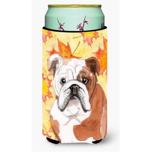 Carolines Treasures BB9521TBC English Bulldog Fall Tall Boy Beverage Insulator Hugger