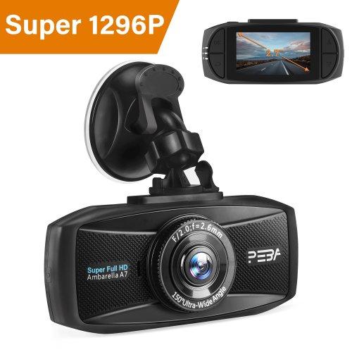 """Dash Cam 1296P Full HD Night Vision Car camera PEBA 2.7"""" LCD Screen"""