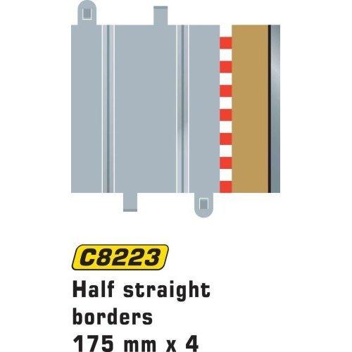 Scalextric C8223 Borders Tan Half Straight 6.75 inches