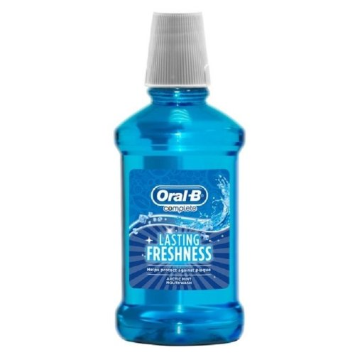 Oral B Complete Lasting Freshness Arctic Mint Mouthwash - 250ml
