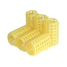 6 Pcs Girl Ladies Plastic Makeup DIY Hair Styling Roller Curlers Clips(Yellow)