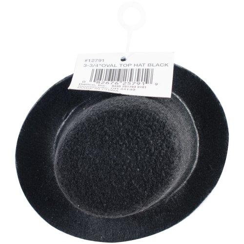 "Stiffened Felt Top Hat 3.75""-Black"