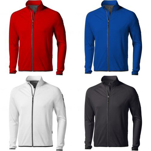 Elevate Mens Mani Power Fleece Full Zip Jacket