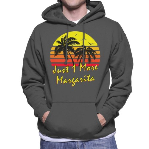 Just 1 More Margarita Vintage Sun Men's Hooded Sweatshirt