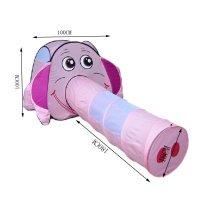 Cute Elephent Kids Indoor/Outdoor Play Tent with Tunnel(Under 3 Years Old,Pink)