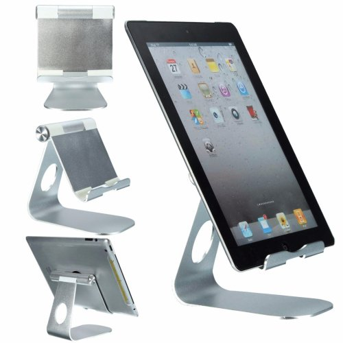 Universal Adjustable Aluminum Alloy Dock Holder Desk Stands For iPad Tablet Smartphone