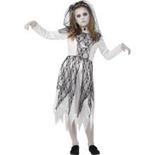 Medium Grey Girls Ghostly Bride Costume -  costume bride fancy dress ghostly girls halloween corpse