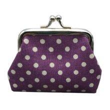 Womens Wallet Card Holder Coin Purse/ Classic Canvas Kiss Lock Coin Bags  B