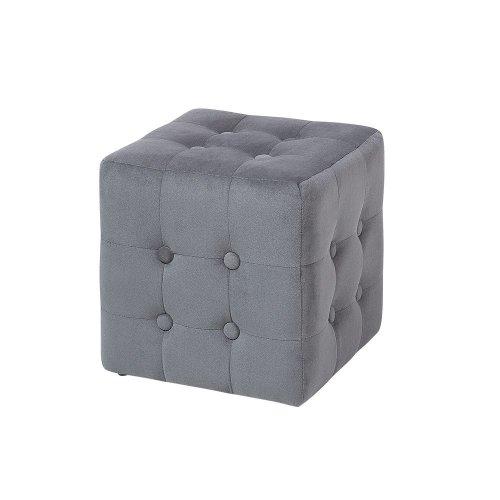 Pouffe Footstool Dark Grey WISCONSIN