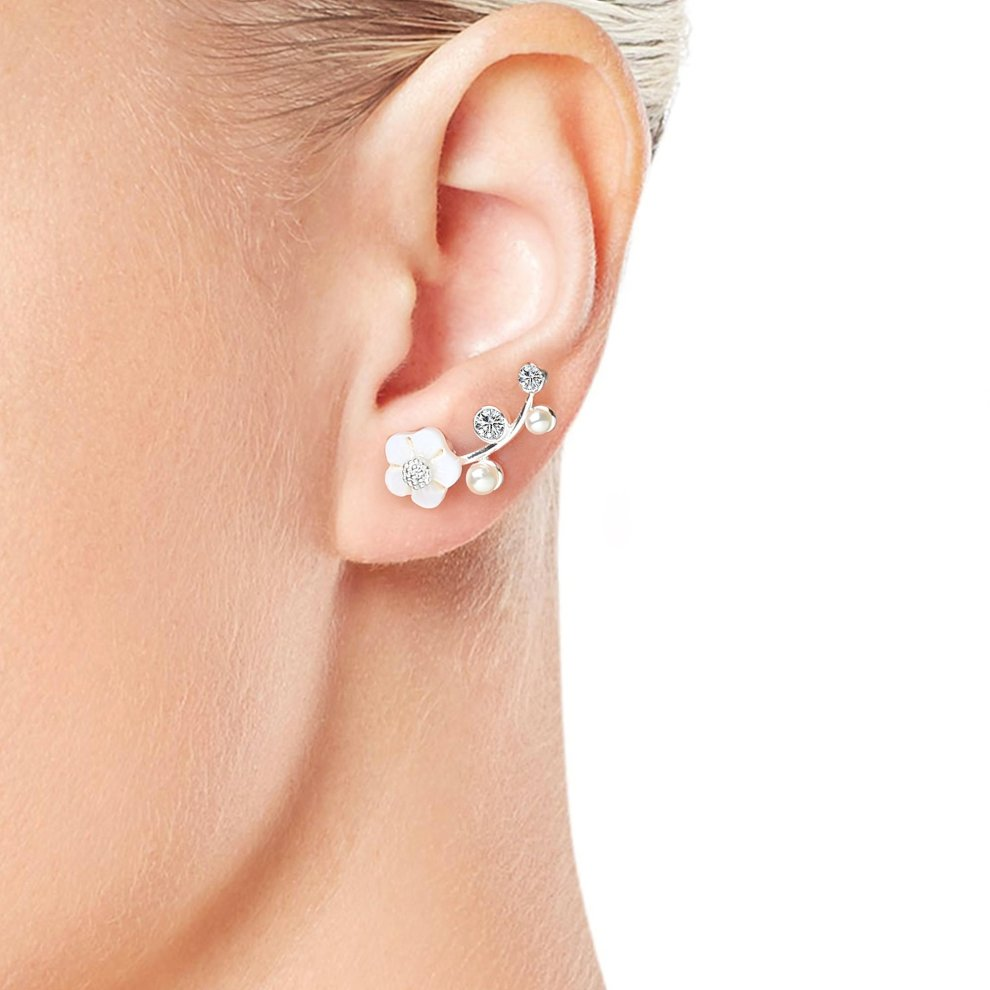 58c982926 ... Gold Plated Daisy Climber Earrings Created with Swarovski Crystals - 1  ...