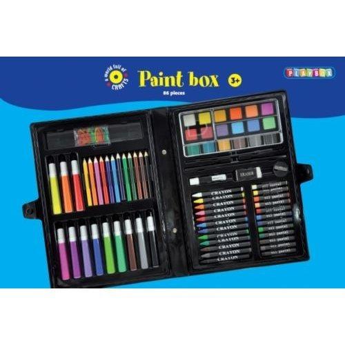 86 Piece Paint Box Craft Set - Play Parts -  playbox paint 86 parts