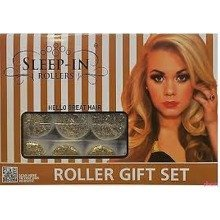 Sleep in Rollers  - White & Gold Glitter - Gift Set