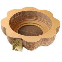 Natural Paper&Wood Cat Scratching Pad New Style Scratcher with Catnip