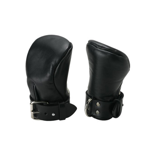 Strict Leather Deluxe Padded Fist Mitts M/L BDSM Hand cuffs - Strict Leather