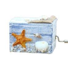 Wooden Music Box Mini Hand Crank Music Box Gift Height Approx 2.3 Inch