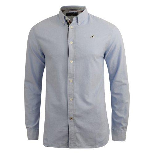 Mens oxford shirt kangol long sleeve
