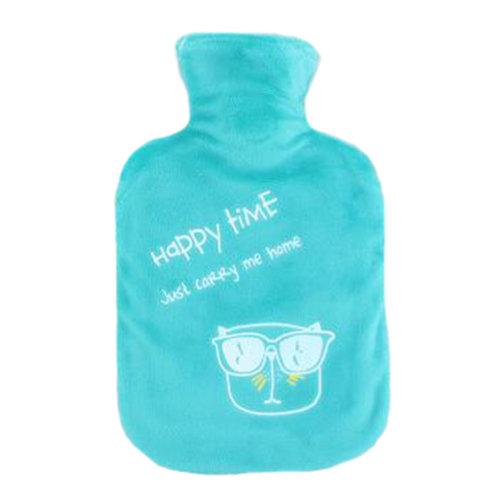 1000mL Winter Handwarmer Pocket Cute Hot-Water Bottle Water Bag Blue