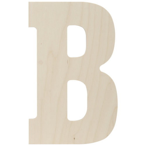 """Baltic Birch Collegiate Font Letters & Numbers 13""""-B"""