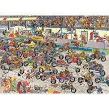 Jigsaw Puzzle - 1000 Pieces - Jan van Haasteren: Motorbike Race
