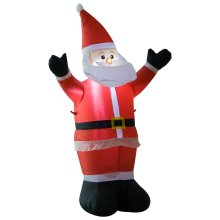 HOMCOM 1.2m Inflatable Christmas Santa Claus Xmas Decoration 3 LED Lights Holiday Air Blown Yard Outdoor Décor