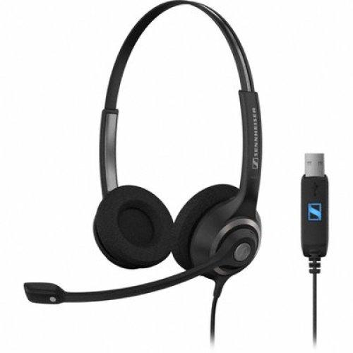 Sennheiser SC 260 USB USB Binaural Head-band Black headset
