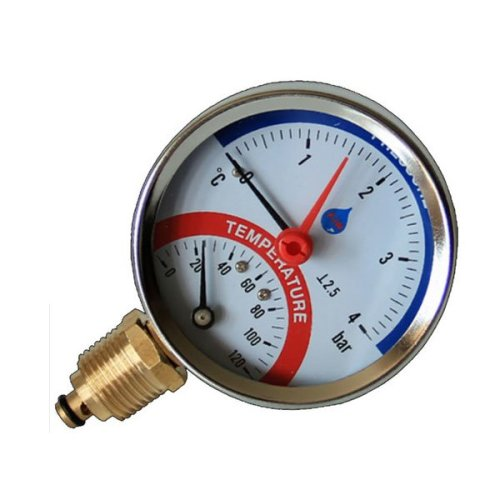 "80mm Various Range Bar Psi Temperature Pressure Gauge 1/2"" Bsp Thermomanometer"