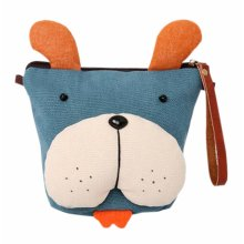 Creative Cute Canvas Messenger Storage Cosmetics Bag Blue