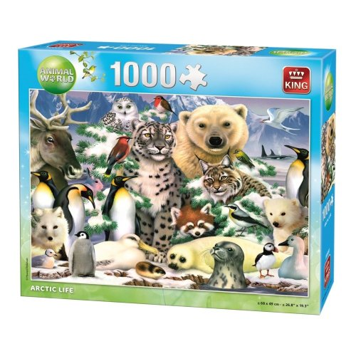 Kng05485 - King Puzzle Animal World - 1000 Pc - Arctic Life