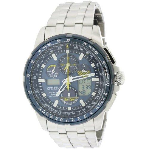 Citizen Eco-Drive Skyhawk Blue Angels A-T Perpetual Mens Watch JY8058-50L