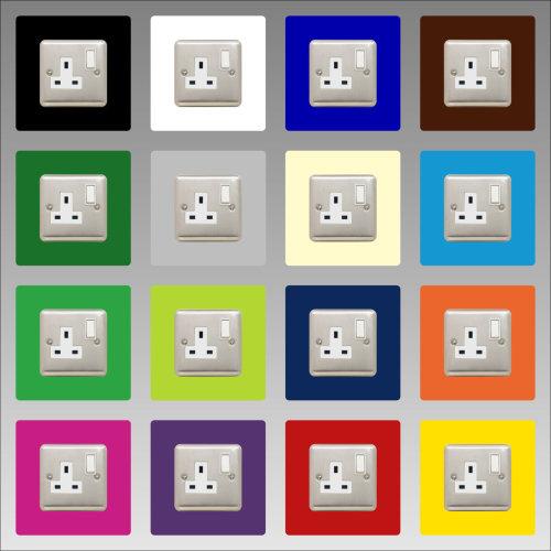 SINGLE SOCKET SURROUND square acrylic finger plate