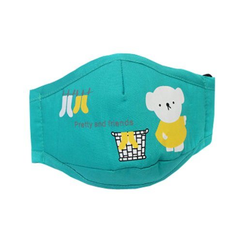 PM2.5 Children's Mask For Anti-smog Of N95 Activated Carbon (Green)