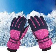 Women Adjustable Skiing Windproof Warm Gloves