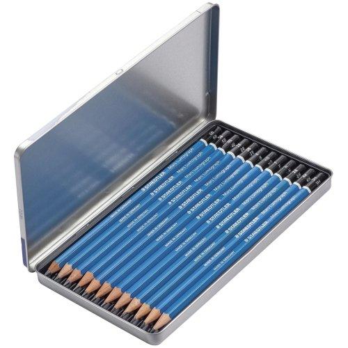 Mars Lumograph Graphite Pencils 12/Pkg-