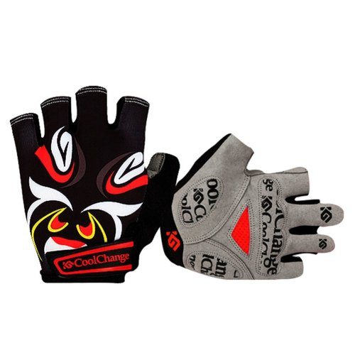 Creative Chinese Style Gloves Fingerless Cycling Gloves